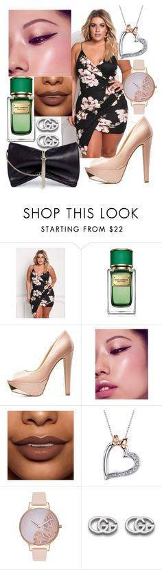 """plus size finesse"" by plus-size-royalty ❤ liked on Polyvore featuring Dolce&Gabbana, Charlotte Russe, Disney, Olivia Burton, Gucci and Jimmy Choo"