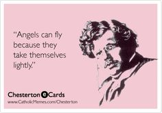 Angels Take Themselves Lightly