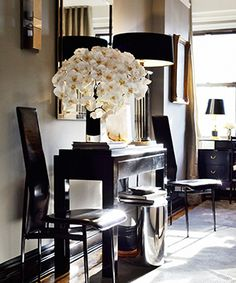 Ryan-Korban_pg.122-853x1024, mixted textures, neutral, mirrors, unusual lampshade dimensions