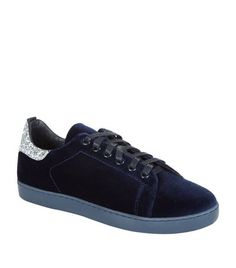 Maje Fanny Velvet Sneaker Midnight available at harrods.com. Shop French fashion online