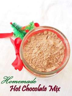 Homemade Hot Cocoa Mix, just 4 ingredients and 2 minutes....from scratch!!