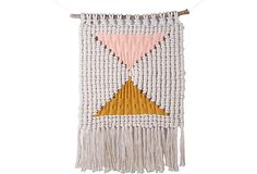 One Kings Lane - Artisanal Macramé - Double Triangle Macramé Weaving