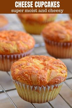 Cheese cupcake - Super moist and fluffy Cheese cupcakes with a cheese topping are sure to be a family favorite Delicious for breakfast with coffee or tea as well as as a snack on the go Cupcake Recipes, Cupcake Cakes, Snack Recipes, Dessert Recipes, Snacks, Cuban Recipes, Fall Desserts, Pinoy Dessert, Filipino Desserts