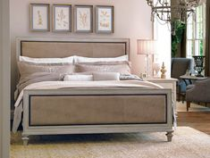 DIY Wood Framed Upholstered Headboard With Nailhead Trim - Part 1. Love this bed and the legs of the bed. It's sophisticated.