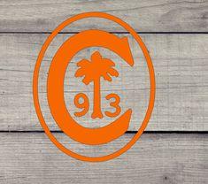 Clemson Tiger Paw, College Gifts, Grad Gifts, Teacher Gifts, Yeti Decals, Vinyl Decals, Monogram Decal, Logo Sticker