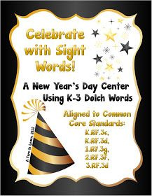 A Turn to Learn: Celebrate the New Year With This Sight Words Game!