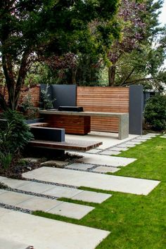 Garden and outdoor of the house plays an essential role in creating the expressions about the house beauty and the owner's care for his place. Small Garden Design, Garden Landscape Design, Landscape Designs, Outdoor Rooms, Outdoor Gardens, Outdoor Decor, Outdoor Living, Outdoor Bbq Kitchen, Outdoor Barbeque