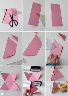 Dreieckige-Geschenkschachtel-falten-Schritt-für-Schritt-Anleitung