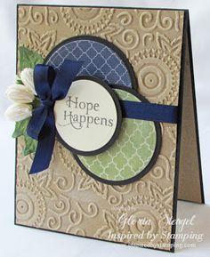 Embossed & Distressed Kraft Cardstock Hope Happens Card...