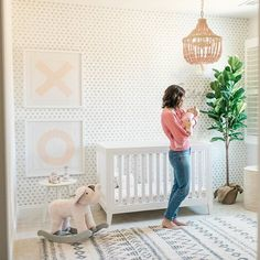 We love this nursery like XO, especially because it's one of our own! PN's @MegBasinger is sharing her daughter's gorgeous nursery in partnership with @potterybarnkids. #PNpartner Garden Nursery, Nursery Room, Girl Nursery, Nursery Decor, Nursery Ideas, Room Ideas, Nursery Modern, Nursery Neutral, Baby Room Storage