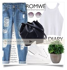 """Romwe !!"" by annagrigoryan94 ❤ liked on Polyvore featuring Lacoste, Kenzo and Monki"