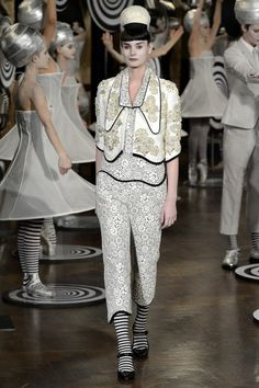 Love the prints at Thom Browne.  Cute Spring suit.