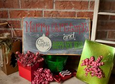 Merry Christmas CUSTOM Wood Sign Personalized by TheAquaAnchor, $42.00