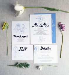 Floral wedding invitation set / Editable & Printable / available in my Etsy Shop ♥ Floral Wedding Invitations, Wedding Invitation Templates, Rsvp, Digital Prints, Place Card Holders, Printables, Etsy Shop, Unique Jewelry, Handmade Gifts