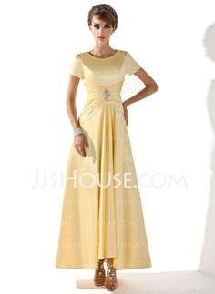 Mother of the Bride Dresses - $114.99 - A-Line/Princess Scoop Neck Asymmetrical Charmeuse Mother of the Bride Dress With Ruffle Beading (008005699) http://jjshouse.com/A-Line-Princess-Scoop-Neck-Asymmetrical-Charmeuse-Mother-Of-The-Bride-Dress-With-Ruffle-Beading-008005699-g5699