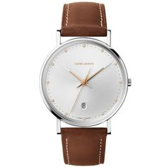 Koppel 418 Watch - Georg Jensen - Silver Dial/38mm Free Online Shopping, Leather Gifts, Daniel Wellington, Watches, Accessories, Jewelry, Christmas Gifts, Hands, Jewerly