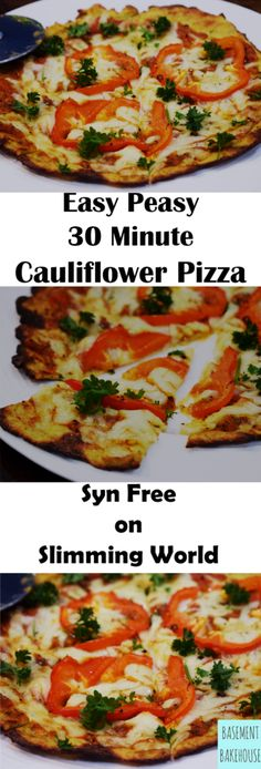 CAULIFLOWER PIZZA RECIPE!   SYN FREE ON SLIMMING WORLD - GLUTEN FREE - LOW CARB - HEALTHY PIZZA