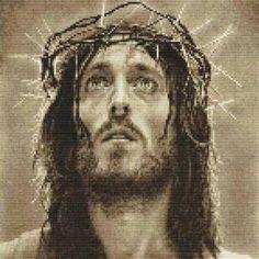 Jesus Christ Son of God Counted Cross Stitch Kit x Brother Innovis, Precious Jesus, Filet Crochet, C2c Crochet, Jesus On The Cross, Son Of God, Counted Cross Stitch Kits, Album, Jesus Christ
