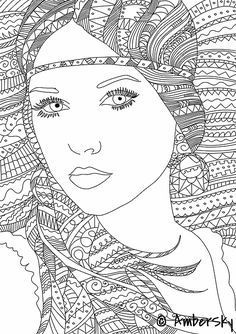 Image result for adult colouring /people