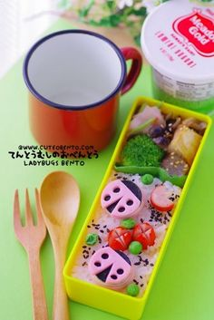 Pink Ladybugs Bento | Flickr - Photo Sharing!