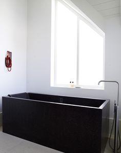 Modern Bathroom With Freestanding Bath Mixer Vola FS1 Stainless Steel Handshower TapsBathroom InteriorDesign