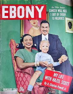 Adam Clayton Powell Family - Ebony Magazine January, 1949