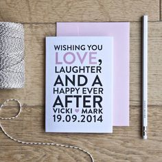 What to Write in a Wedding Card: Wedding Wishes, Inspiration and Ideas