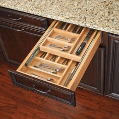 Double up your drawer space with rev-a-shelf's two-tiered drawer systems.  This drawer box comes pre-assembled and ready to install into your existing cabinet drawer opening.
