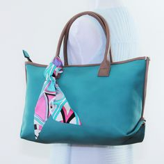 MONOGRAM tote bag, FAUX leather tote bag, medium handbag, aqua handbag, work bag, Structured tote, everyday tote bag, laptop bag, vegan bag by bennaandhanna on Etsy