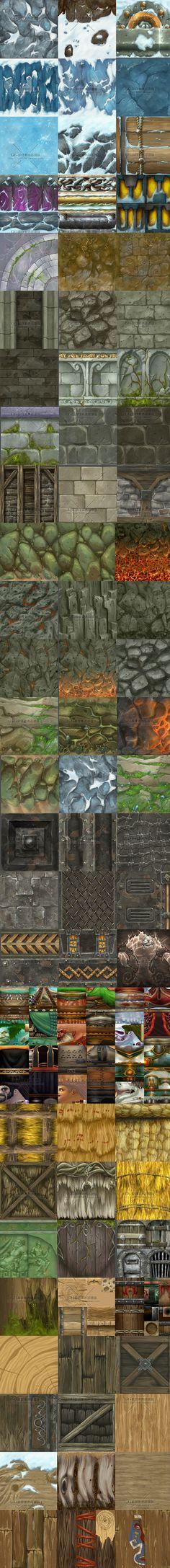 CG游戏资源素材手绘材质魔兽世界全套场景...