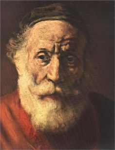 Old man - Rembrandt  -  such wonderful detail...loved his painting that I was able to see in Amsterdam.