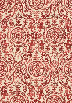 Sansome #fabric in #red from the Richmond collection. #Thibaut