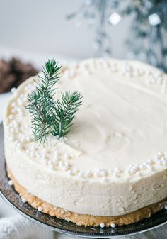 WHITE CHOCOLATE CHRISTMAS TRUFFLE CAKE: Whip up a white Christmas at home with this elegant, snowy cake from Vikalinka. Complete with a truffle topping, this scrumptious cake pairs beautifully with a seasonal sprig and sugar pearls. Click here to see the recipe.