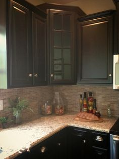 Crema Marfil Tile With Giallo Ornamental Granite Counter Top Installed In Simsbury Ct
