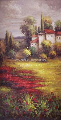 countryside paintings | ... classical landscape painting country scene painting downtown