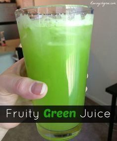 Fruity Green Juice Recipe -      3-4 Granny Smith apples     2 lemons peeled     2 oranges peeled     1/2 pineapple     16 oz. spinach or mixed greens