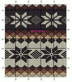 Graph Tapestry Crochet Patterns, Fair Isle Knitting Patterns, Fair Isle Pattern, Knitting Charts, Knitting Designs, Knitting Stitches, Crochet Cross, Crochet Chart, Filet Crochet