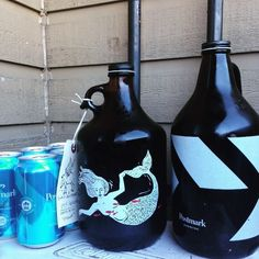 Postmark and Strangefellows Growlers