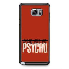 Movie Poster Psycho TATUM-7476 Samsung Phonecase Cover Samsung Galaxy Note 2 Note 3 Note 4 Note 5 Note Edge