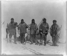In 1912 explorers were still seeking to extend the boundaries of the physical world. Robert Falcon Scott, a British naval officer and explorer, began his expedition to reach the South Pole. Reaching there in Jan. he discovered that Roald Amundsen's team had gotten there first. Disappointed, the Scott party started their return hike in adverse conditions. They made camp near One Ton Depot where they perished by March 29.  #Titanic (Image http://www.loc.gov/pictures/item/2009633384/)