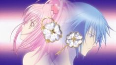 Shugo Chara: Every child has an egg in their heart, unseen at first, an egg with the would-be self of their dreams. Hinamori Amu, part of a group called the Guardians, protect those eggs from becoming x-eggs, eggs filled with resentment and resignation that gives children troubles. Amu's job is to capture and restore x-eggs to their orginal form. She does this with the help of her three Shugo Chara (guardian characters or her would be selves), Ran, Miki and Su.