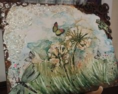 Mixed media canvas by Erica from Cottage Chic Interiors  www.cottagechicinteriors.ie