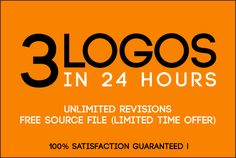 design 3 Modern Logo versions in 24 Hours, free Source file by angela_winslet