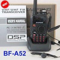 BaoFeng A52 Handheld Radio 5W 128CH VHF UHF Dual Band 136-174MHz&400-520MHz Portable Walkie Talkie Interphone