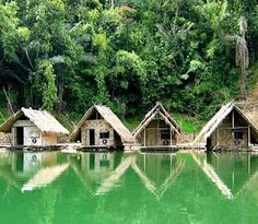 These are the raft houses I stayed at in Kao Sok National Park in Thailand. I have never been anywhere where the temperature of the water merged with the the temperature of my body such that i didn't know where I began and ended!