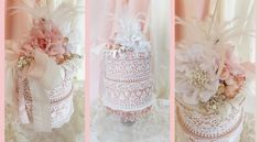 Lace Cake/Storage Boxes with Tresors de Luxe