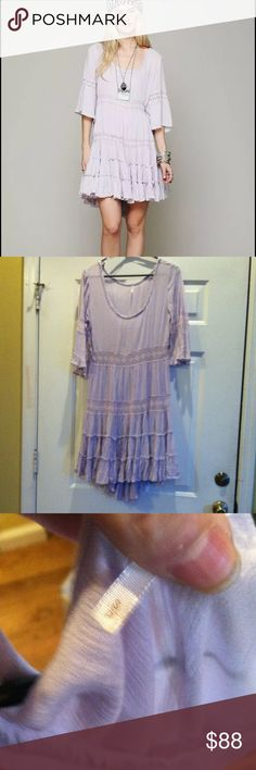 Free People Dress in Lavender Free People Dream Cloud Dress in Rare Color Lilac. Size Small, does not come with original slip Free People Dresses High Low