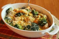Zapečená brokolice s rýží a kuřecím masem Broccoli, Mashed Potatoes, Healthy Recipes, Healthy Food, Meat, Chicken, Vegetables, Ethnic Recipes, Whipped Potatoes