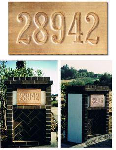 Copper Mailbox Numerals