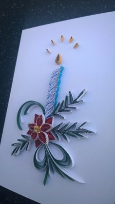 Handmade quilling greeting card/Christmas card/Greeting card